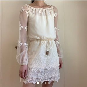 CHASER White Lace Dress